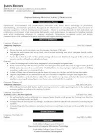 Plant Manager Resume Example Hotwiresite Com