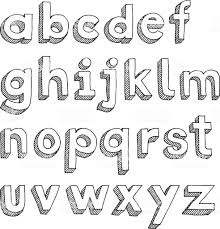 Designs Of Letters Ofthe Alphabet Hand Drawn Image Of All Letters Of The Alphabet Arranged In