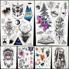 пикантные временные татуировки наклейки мужской боди арт дерево