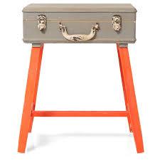 orange suitcase side table  oliver bonas