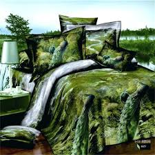 forest bedding green forest peacock oil painting bedding set queen size cotton quilt cover bed linen