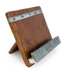 reclaimed wood ipad cookbook holder home kitchen