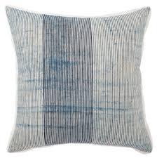 Alicia Handmade Stripe Blue & White Throw Pillow – BURKE DECOR