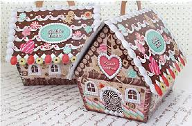Decorative Cookie Boxes New arrival Christmas house candy cookie boxChristmas gingerbread 51