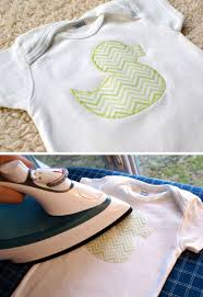 fabric applique onesie tutorial free cut file pic for 21 diy baby shower