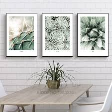 <b>Nordic Poster</b> Cactus Wall Pictures For Living Room <b>Green Plants</b> ...
