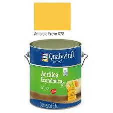 É indicado também para paredes externas por ser uma tinta com mais resistência e proteção contra formação de algas. Pintura Amarelo Frevo 3 6 L De Interior Loysa