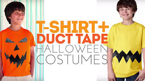 easy and last minute costumes made from a t shirt and duct tape