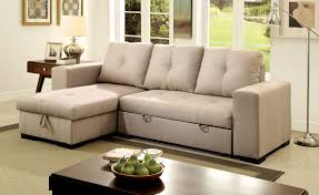 American Contemporary Furniture Furniture Of America Tralla Ivory Sectional With Chaise Storage