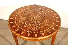 round coffee table inlaid marquetry for pier 1 moroccan australia