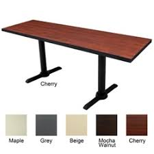 regency 72x24 rectangle training table with t legs acrylic office furniture