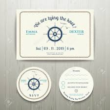 rsvp card template nautical we are tying the knot wedding invitation and rsvp card