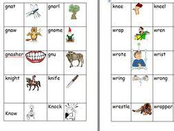 Covering, letters of the alphabet. Silent Wr Gn And Kn Worksheet And Matching Activity Teaching Resources