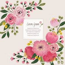 Vintage Flower With Greeting Card For Your Text Design