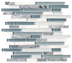 bliss bsws stone and glass linear mosaic tile