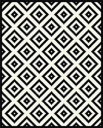 chequers black and white geometric rug as oval rugs