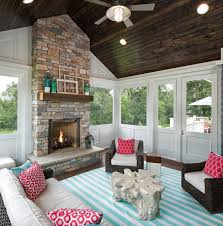 screened in porch with fireplace. Amazing Screened Porch With Fireplace For Natural Stone Traditional In T