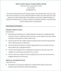 Sample Resume English Teacher Cover Letter For Resume Teacher Sample
