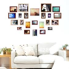 picture frames for multiple pictures heart shape solid wood photo wall frames set multiple multiple photo frames on wall large picture frames for multiple