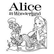 Small Picture Coloring pages Alice In Wonderland Disney