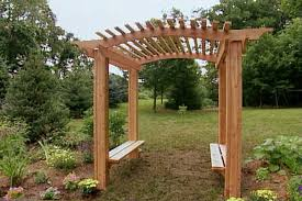 how to build a wood arbor for garden or