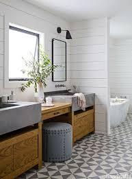 Rustic Double Sink Bathroom Vanities Antique WK Series 60 Inch