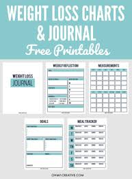 Printable Weight Loss Chart And Journal For Weight Loss Success Oh