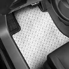 intro tech 1st row 2 piece automotive diamond plate mat