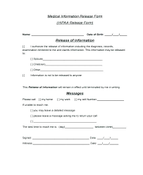 Printable Medical Release Form For Children Stunning Patient Release Form Template Medical Records Forms Free As