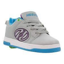 Childrens Heelys Voyager Roller Shoe Size 3 M Grey