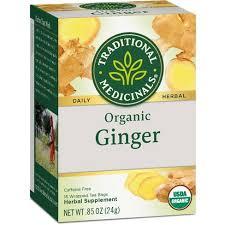 Traditional Medicinals <b>Organic Ginger Herbal Tea</b> - 16ct : Target