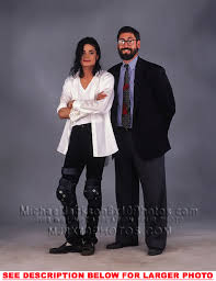 MICHAEL JACKSON BnW with JOHN LANDIS 1xRARE8x10 PHOTO