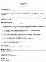 Software Tester Resume Sample Australia Inspirational Simple Ideas