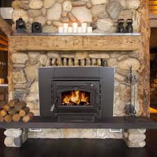 image of contemporary wood stove fireplace insert