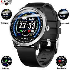 <b>LIGE N58</b> ECG PPG smart watch with ECG EKG display, dynamic ...