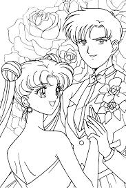 Usagi And Mamoru Coloring Page Sailormoon
