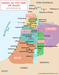 Time Map Map And History Of Israel At The Time Of Jesus Christ