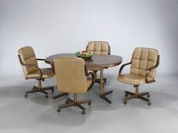 chair tall kitchen stool with wheels leather dinette chairs with casters casual dinette sets with casters