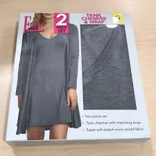 Felina Tank Chemise And Wrap Nwt