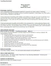 Teacher Assistant Resume Interesting Classroom Assistant Cv Kazanklonecco