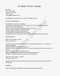 Bank Teller Resume Sample With Job Objective Vinodomia