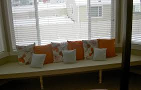 Kitchen Bay Window Seating Fascinating Two Section Bay Window Seat Decoration In Living Space