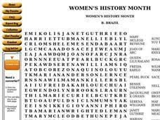 Womens History Month Worksheet For 6th 8th Grade Lesson Planet