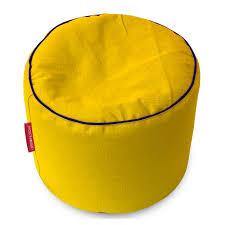 yellow pouf ottoman. Brilliant Pouf Cotton Khadi Bean Bag PoufOttomanFootstool Cover  Round Yellow By  Urbanloom Throughout Yellow Pouf Ottoman