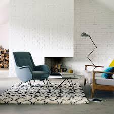 grafik rug by nuastyle black white deep pile wool