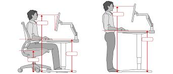 ergonomic desk setup. Ergonomic Desk Height Enchanting Standing Setup Office Chair