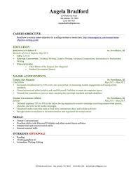 College Freshman Resume Extraordinary College Freshman Resume No Work Experience Trend Sample Resume With