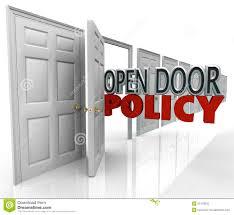 open door policy words management wele munication