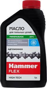 """<b>Масло</b> адгезионное для <b>пильных</b> цепей """"<b>Hammer</b> Flex"""", 501-006, 1 л"""