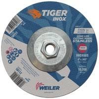 "6"" x .045"" TIGER <b>INOX</b> Type 27 Cutting Wheel, INOX60S,, <b>5/8</b>""-11 ..."